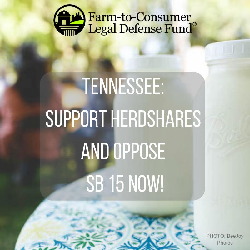 Oppose Senate Bill 15 in TN & Support Herdshares